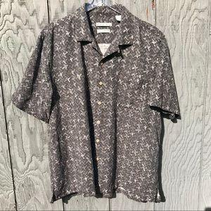 Batik Bay Mens L Hawaiian Aloha Shirt Silk